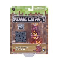 "Фигурка Minecraft ""Скелет в огне"" Skeleton on Fire (Jazwares)"