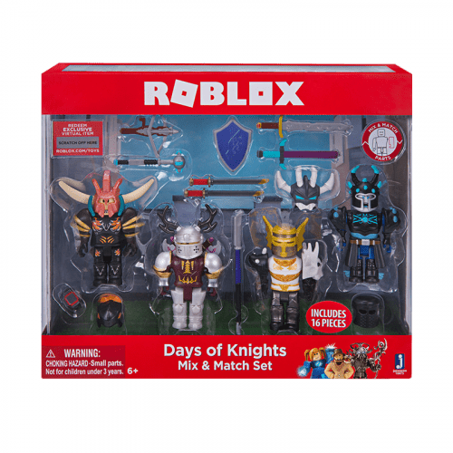 "Набор из 4 фигурок Roblox ""Days of Khights. Mix and Match Set"" (Jazwares)"