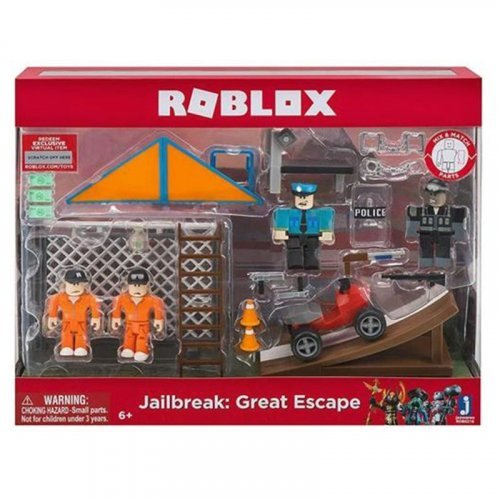 "Набор из 4 фигурок Roblox ""Jailbreak: Great Escape"" (Jazwares)"