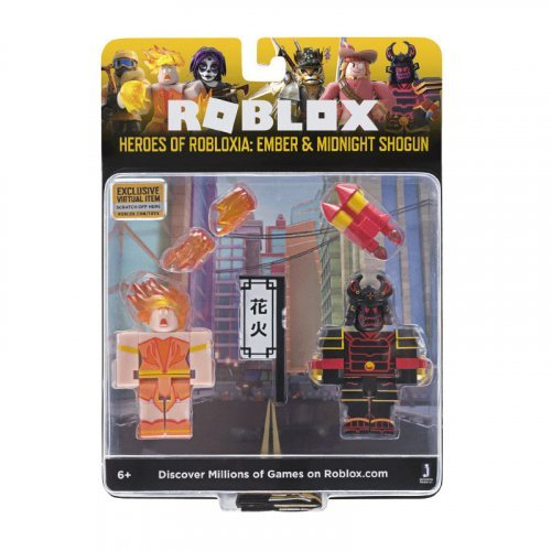 "Набор из 2 фигурок Roblox ""Heroes of Robloxia: Ember & Midnight Shogun"" (Jazwares)"