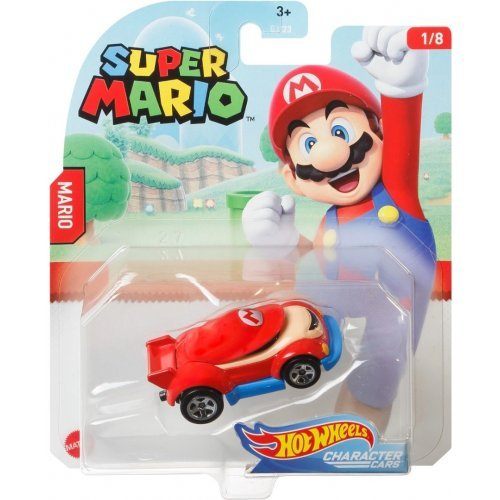 "Hot Wheels Mattel Super Mario Character Cars ""Mario"""
