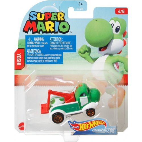 "Hot Wheels Mattel Super Mario Character Cars ""Yoshi"""