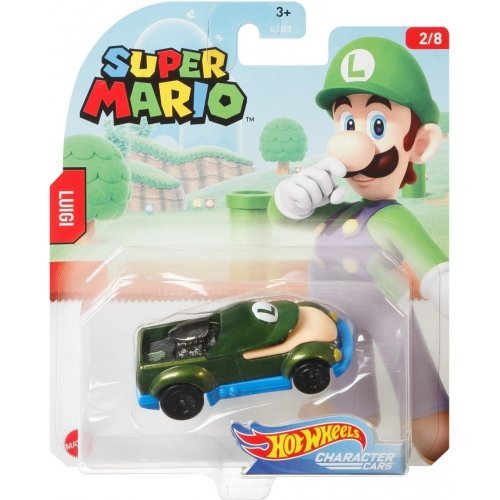 "Hot Wheels Mattel Super Mario Character Cars ""Luigi"""