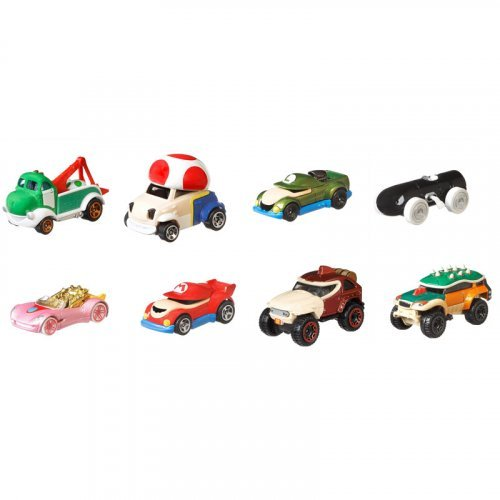 Набор из 8-ми машинок Hot Wheels Mattel Super Mario Character Cars